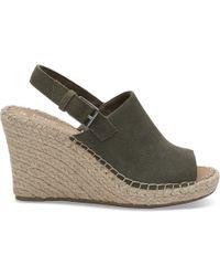 TOMS - Compensées Monica En Daim Pin chaussures - Lyst