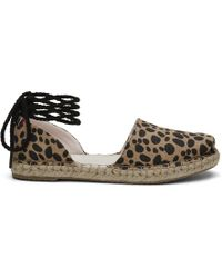 TOMS - Clare V. Leopard Heritage Canvas Women's Katalina Espadrilles - Lyst