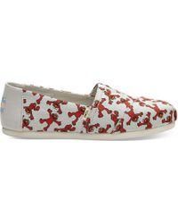 TOMS - Alpargata (navy Terry Cloth (vegan)) Women's Shoes - Lyst