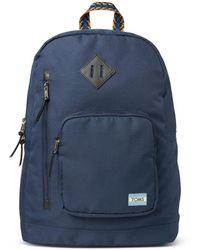 TOMS - Navy Solid Ripstop High Road Backpack - Lyst