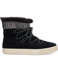 TOMS - Waterproof Black Suede Women's Alpine Boots - Lyst