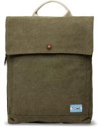 TOMS - Olive Washed Canvas Trekker Backpack - Lyst