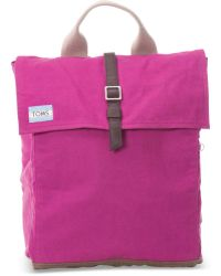 TOMS - Pink Waxed Canvas Trekker Backpack - Lyst
