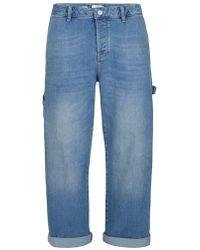 TOPMAN - Light Blue Stretch Carpenter Fit Jean - Lyst