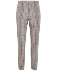 TOPMAN - Brown Check Skinny Fit Suit Trouser - Lyst