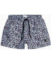 TOPMAN - Leopard Print Swim Short - Lyst