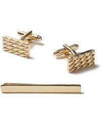 TOPMAN - Gold Cufflink Set - Lyst
