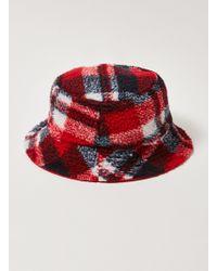 52298d3d05d TOPMAN - Check Bucket Hat - Lyst