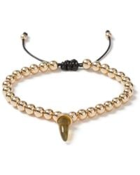 TOPMAN - Beaded Tusk Necklace - Lyst