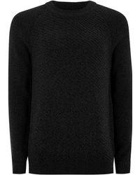 SELECTED - Black 'preston' High Neck T-shirt - Lyst