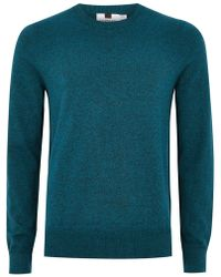TOPMAN - Teal And Black Sweater - Lyst