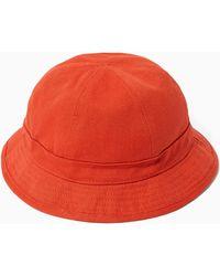 TOPMAN - Burnt Orange Dome Bucket Hat - Lyst