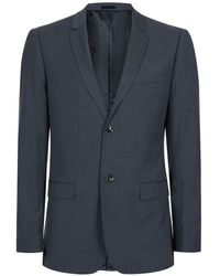 TOPMAN - Navy Marl Skinny Fit Suit Jacket - Lyst