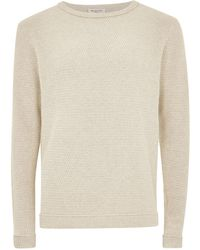 TOPMAN - Elected Homme Gray Organic Cotton Sweater - Lyst