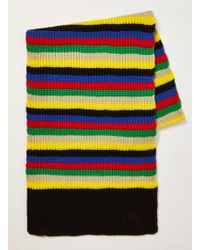 TOPMAN - Brightstripe Knitted Scarf - Lyst