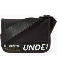 Lyst - TOPMAN Black Sabre Cross Body Bag in Black for Men 9eb640c0681ae