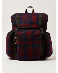 TOPMAN - Check Fleece Backpack - Lyst
