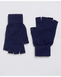 TOPMAN - Navy Fingerless Gloves - Lyst