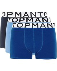 TOPMAN - Assorted Colour Trunks 3 Pack - Lyst