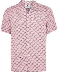 34a584ba081e TOPMAN Marble Western Shirt in Blue for Men - Lyst