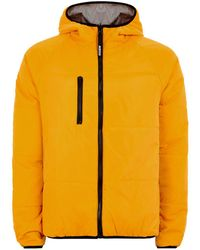 TOPMAN - Vision Street Wear Reversible Yellow And Gray Puffer Jacket - Lyst