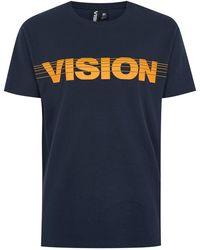 TOPMAN - Vision Street Wear Navy 'strike Through' T-shirt - Lyst