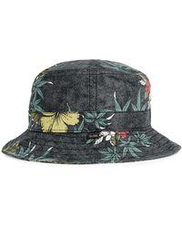 Globe | Grey Leaf Print Bucket Hat* | Lyst