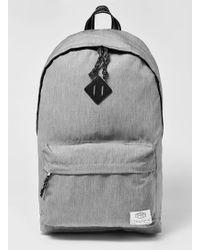 TOPMAN - Grey Branded Backpack - Lyst