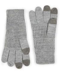 TOPMAN - Light Grey Touchscreen Gloves - Lyst