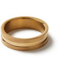 TOPMAN - Gold Ridged Ring* - Lyst