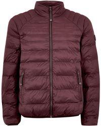 TOPMAN - Burgundy Liner Jacket - Lyst