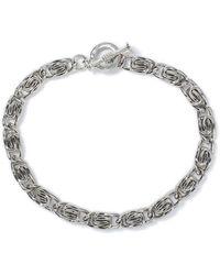 TOPMAN - Ilver Curl Chain Bracelet - Lyst