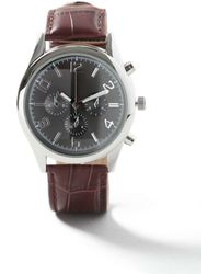 TOPMAN - Brown And Black Leather Watch* - Lyst