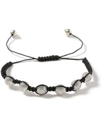 TOPMAN - Black And Silver Look Engraved Ball Bracelet* - Lyst