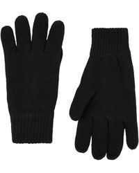 SELECTED - Black Knitted 'leth' Gloves - Lyst
