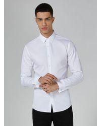 TOPMAN - White Premium Egyptian Cotton Shirt - Lyst