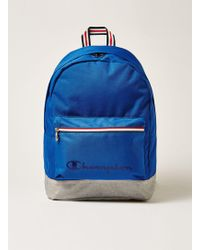 TOPMAN - Champion Bright Blue Backpack - Lyst