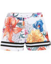 Jaded - Floral Mesh Short Shorts - Lyst