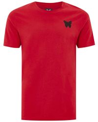 TOPMAN - Good For Nothing Red Essential T-shirt - Lyst