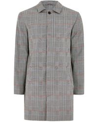 TOPMAN - Black And White With Colourful Check Mac - Lyst