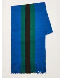 TOPMAN - Stripe Knitted Scarf - Lyst