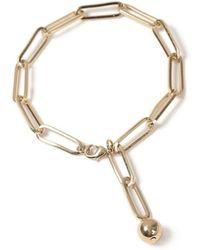 TOPMAN - Gold Chain Bracelet - Lyst