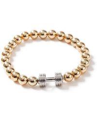 TOPMAN - Gold Bolt Bracelet - Lyst