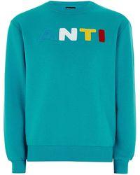 Antioch - Turquoise Logo Sweatshirt - Lyst