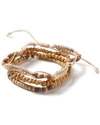 TOPMAN - Brown Beaded Bracelet - Lyst