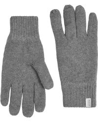 SELECTED - Grey 'leth' Gloves - Lyst
