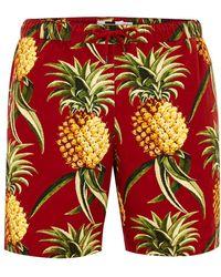 TOPMAN - Red Pineapple Pull On Short - Lyst