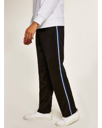 TOPMAN - Poly Tricot Side Taping Jogger - Lyst