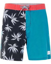 Globe - Red, Blue And Black Palms Print Shorts* - Lyst
