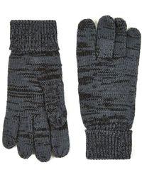 TOPMAN - Grey Plaited Glove - Lyst